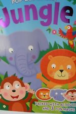 JUNGLE POP-OUT-MASKS BOOK PACKED WITH ACTIVITIES AND 3 FUN MASKS