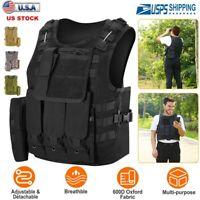 Adults Tactical Vest Military Airsoft Paintball Vest Camouflage Combat Vest US