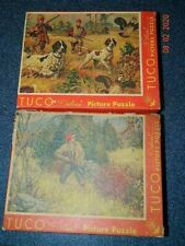 2 - Vtg TUCO 1930's THICK PIECE Hunting / Sportsman Puzzles  COMPLETE.