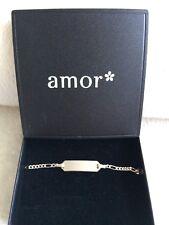 """Baby Kinder Armband Armkette 925 Silber ohne Gravur Taufe Geburt Geschenk """"Amor"""""""