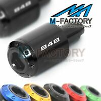 ATOM Laser Logo Engraving Bar Ends Fit Ducati 848 EVO 848S 848R 07-14 13 12 11