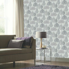 Ellwood Silver Trees Glitter Sparkle Feature Wallpaper Arthouse 670002
