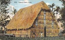 TOBACCO BARN CUBA POSTCARD 1914