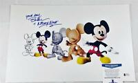 "BRET IWAN ""MICKEY MOUSE"" SIGNED METALLIC 11X17 PHOTO DISNEY BECKETT BAS COA 132"