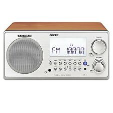 Sangean WR-2 FM-RBDS / AM Wooden Cabinet Digital Tuning Radio Receiver in Walnut