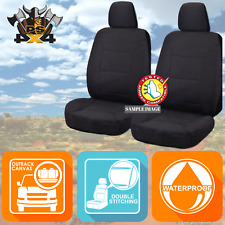 Canvas Car Seat Covers to suit Toyota Prado 120 Series 2003-2009 Front Seats