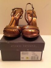 Jessica Bennett Womens Bronze Leather Sandal Size 10 M