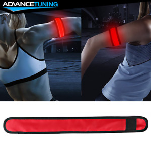 LED Slap Armband Lights Glow Band for Safe Night Running Cycling 35cm Red