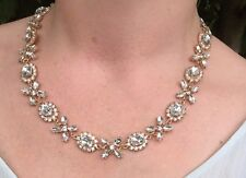 Crown Floret Jewel XOXO Elegant Fashion Statement Necklace