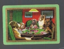 """Playing  SWAP Cards 1 VINT WIDE  U.S NAMED  """"A BOLD BLUFF """" DOGS  PL CARDS  US32"""