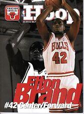 1999-2000 Basketball Program, Chicago Bulls~ Elton Brand, Ron Artest ~ unscored