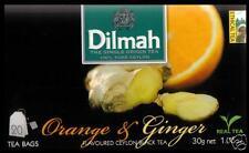 Dilmah Tee-ORANGE & Ginger flavoured black Ceylon Tea 20 bustina del tè