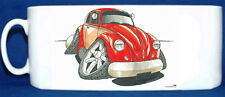 KOOLART - VW BEETLE 1300 MK1 - GLOSSY PHOTO MUG - RED