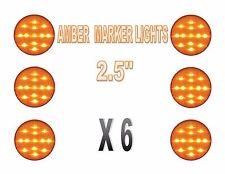"set of 2.5"" AMBER MARKER LAMPS (13 LEDs) AMBER LED w/ AMBER LENS ( SIX EACH)"