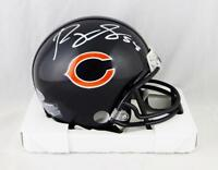 Roquan Smith Autographed Chicago Bears Mini Helmet- Beckett Auth *White