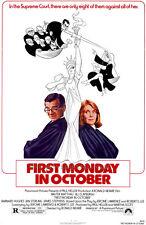 FIRST MONDAY IN OCTOBER Movie POSTER 27x40 Walter Matthau Jill Clayburgh Barnard