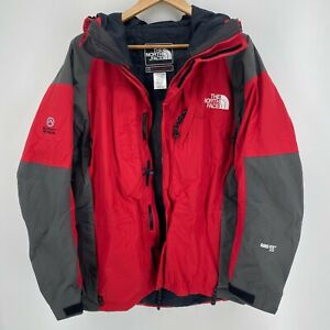 The North Face Jacket Men's L Red Summit Series Full Zip Hooded Ski Outerwear