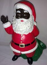 Vintage Ceramic African American Santa Christmas