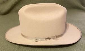 "John B. Stetson Hat 4X Beaver Size 6 7/8 Tan "" The Open Road"""