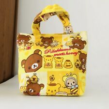 Rilakkuma bear bee cute handbag gift lunch box bag unisex tote recycle bag