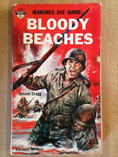 Delano Stagg Bloody Beaches Marines Die Hard 1st 1961 Great Cover Art L@K Wow!