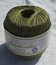 "Bernat Handicrafter Crochet Thread ""Ripe Avocado"" #31222 - NEW & SMOKE FREE HOME"