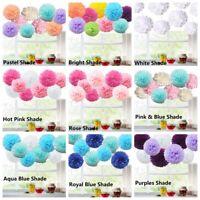 "9PCS Tissue Paper Pom-Poms 8"" 10"" Flower Ball Wedding Party Home Outdoor Decor"