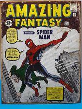 Rustic Amazing Fantasy Spider Man Marvel Comics Cover - Metal Tin Sign 40 x 32cm