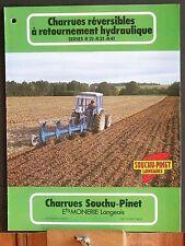 ▬►Prospectus Charrues  Reversibles SOUCHU-PINET Tracteur Someca Massey IH