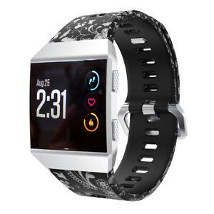 Replacement Pattern Band Strap Wristband Tracker Metal Buckle For Fitbit Ionic