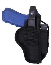 belt pistol holster black ambidextrous left or right rothco 10959