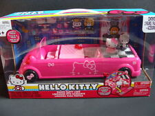 NEW HELLO KITTY Dance Party Limo Playset 15+ pcs Figures Pink Limousine Car NIB
