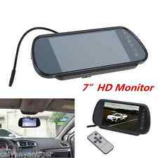 "New 7"" LCD TFT Color Screen Car Reversing Backup Rear View Mirror Color Monitor"