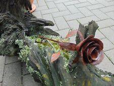 Rose Edelrost Rostig Handarbeit Vintage Geschenk Gartendeko