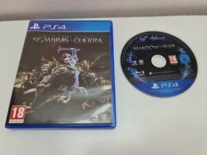 ۞ Play Station 4 PS4 Sombras de Guerra PAL ESP ۞Envío Combinado 24H۞
