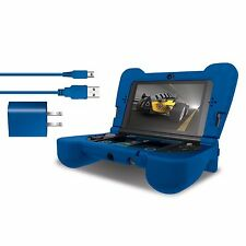 dreamGEAR New Nintendo 3DS XL Comfort Grip Case - Power Play Kit - Blue