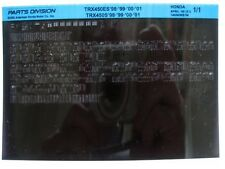 Honda TRX450ES TRX450 1998 1999 2000 2001 Parts List Catalog Microfiche a554