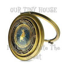 NEW Alice through the Looking Glass Rabbit COMPACT 2 SIDED MIRROR Disney Store