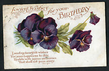 Posted 1920 Birthday Card: Rochester Postmark: Flowers: Joyous Memories