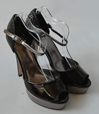 Ladies Carvela Black Glitter Platform High Heel shoes Size UK 6 Eur 39