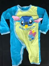 Disney Baby Boys Stitch Romper Outfit Sleeper Hanging Ears 95CM or 18-24M US