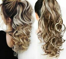 """22"""" Clip In Pony Tail Hair Extension Draw String Ponytail hair Extension Piece"""