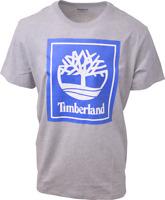 Timberland Men's Grey & Blue Box Logo S/S Tee (Retail $35) S01