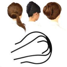 Women Chic Bun Hairstyle Ornaments Braider Bow Hair-Plug Disk Hair Accessories