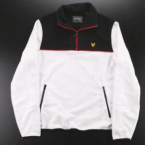 Vintage LYLE & SCOTT White 00s Regular Fleece Jacket Womens S