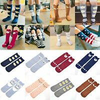 Classy Good Baby Children Girls Fox Pattern Socks Soft Cotton Knee High Hosiery