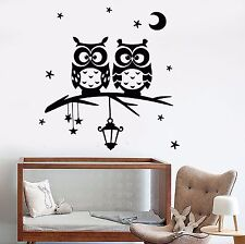 Vinyl Wall Decal Owl Moon Stars Branch Nursery Dreams Bedroom Stickers (683ig)