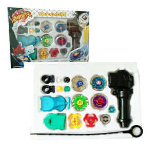 Beyblade 4D Play Set Rapidity Fusion Masters Battle With Handle Launcher Set