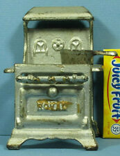 "AUTHENTIC OLD SMALL CAST IRON TOY STOVE ""ROYAL"" + SAUCE PAN * FREE SHIP * CI375"