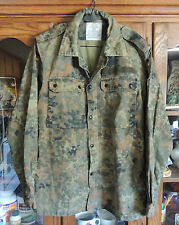 German Military Surplus Field Shirt Green Camo Cotton/Polyester Men's Medium